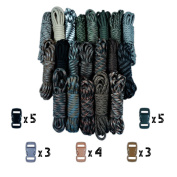 Paracord Planet 250kg Type III Paracord Combo Crafting Kits with Buckles