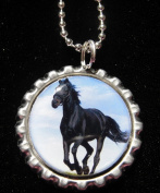 3.8lOPING HORSE Bottle Cap NECKLACE for Birthday Party Favour FLAT10