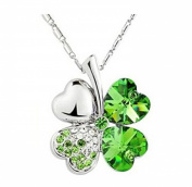 Domire Lucky Four Leaf Clover crystal Pendant Neacklace