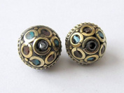 Oval shape nepalese beads - 1 bead -BD016