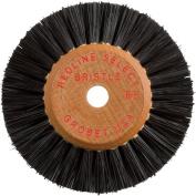 Wood Hub Bristle Wheel Brush 3.8cm x 1.3cm , 2 Row - Size - 5.1cm D 2 Row 2.5cm - 0.6cm D X 1.6cm