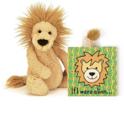 Jellycat® If I were a Lion Baby Touch and Feel Book and Bashful Lion Stuffed Animal Bundle