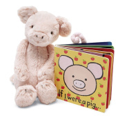 Jellycat® If I were a Pig Baby Touch and Feel Book and Bashful Pig Stuffed Animal Bundle