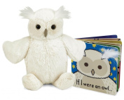 Jellycat® If I were an Owl Baby Touch and Feel Book and Woodland Cream Owl Stuffed Animal Bundle