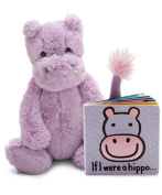 Jellycat® If I were a Hippo Baby Touch and Feel Book and Bashful Hippo Stuffed Animal Bundle