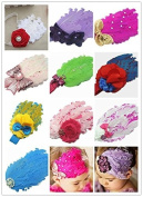Colourful Baby's headband Girl's headwear Feather Chirsmas-Suit 10pcs
