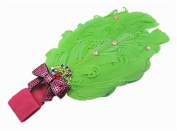 Colourful Baby's headband Girl's headwear Feather Chirsmas-green