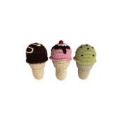Cheengoo - Organic Baby Rattle - Ice Cream Cone