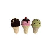 Cheengoo - Organic Baby Rattle - Ice Cream Cone