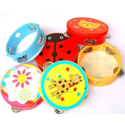Bhbuy New Baby Kid Child Handbell Rattles Clap Drum Tambourine Toy Musical Instrument