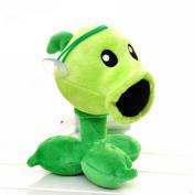 Luk Oil Plants Vs Zombies Plush Toys Plant Pea Shooter Doll Plush Toys Pea Shooter Small Size About 18cm tall
