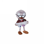 """Luk Oil Plants vs Zombies Newspapers zombies Plants Vs Zombies Series Plush Toy Newspaper Zombie 27cm/10.6"""" Tall"""