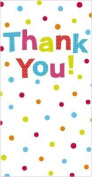 Pack of 8 Glitter Finished Thank You Cards with Spots