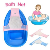 Baby Bath Bed Slip-resistant Bath Net Rack Shower Plate Baby Mesh Seat Baby Bath T bed-Colour Random