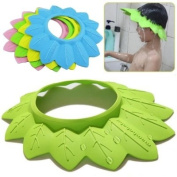 New Coming Adjustable Shower Cap Protect Shampoo for Baby Bathing Waterproof Caps Hat Child kid children Wash Hair Shield Hat-Colour Random