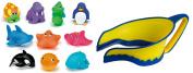 Lil' Rinser Splashguard Shampoo Rinser & Bath Squirt Toys, Yellow