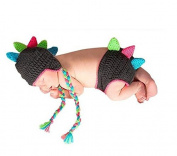 Dealzip Inc® Fashion Unisex Newborn Boy Girl Crochet Knitted Baby Outfits Costume Set Photography Photo Pro-Chameleon
