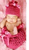 Dealzip Inc® Fashion Unisex Newborn Boy Girl Crochet Knitted Baby Outfits Costume Set Photography Photo Pro-Pink Princess