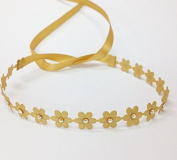 Flower Wrap in Matte Gold with Gold Colour Rhinestones