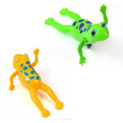 Interesting Baby Bathing Toy Wing Up Plastic Frog Bath Buddies For baby Kids Green or Yellow Colour