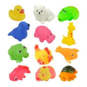 12pcs/set Baby Toys/Children Mixed Different Animal Bath Toy