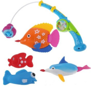 Children Kids Baby Magnetic Fishing Swimming Bath (Fish Could Swim) Toys Set Gifts