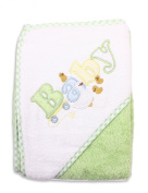 Spasilk 100% Cotton Hooded Terry Bath Towel, Green