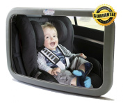 2014 LATEST Baby & Mom Back Seat Rear View Baby Mirror - Easily Watch your Precious Child In-Car with this Adjustable Convex Baby Safety Mirror - Larger Angle than other Brands allows Full Sight of Rear Facing Infant Car Seat - Lightweight with High Qu ..