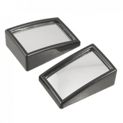 2 Pcs Auto Car Black Plastic Housing Convex Blind Spot Mirror