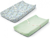 Summer Infant Ultra Plush Changing Pad Cover, Set of 2, Blue Swirl/Sage
