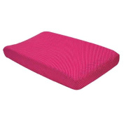 Fuchsia Dot Changing Pad Cover