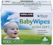 4 Wholesale Lots Kirkland Signature Baby Wipes Ultra Soft, 3600 Wipes Total