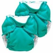 Kanga Care Lil Joey 2 Pack All In One Cloth Newborn Nappy, Peacock 1 ea