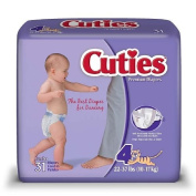 Cuties Premium Baby Nappies, Size 4, 31 ea 1 pack