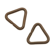 Vintaj Natural Brass Heavy Triangle Jump Rings / Bails 15mm 12 Gauge