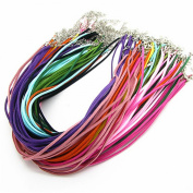 Imitation Leather Lace Necklace Cords DIY Jewellery Making Ropes with Lobster Clasps Extended Chain 46cm Mixcolor