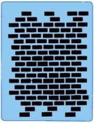 Stencileyes - Quickez/ Brick Stencil #25