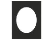 Pre-cut Oval Photo Mat Board by Accent Design White Core 28cm x 36cm . for 20cm x 25cm . Photo Black