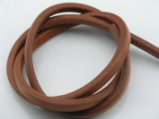 1 Metre Soft 10.0x6.0mm Camel Licorice Real Leather Cord