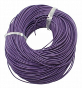 BeadsTreasure 4.6m of Purple Genuine Leather Cord Round 2 mm Diameter.