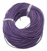 BeadsTreasure 4.6m of Purple Genuine Leather Cord Round 2 mm Diameter.