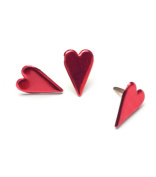 Painted Metal Heart Paper Fasteners - 50PK/Metallic