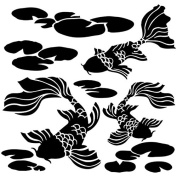 Crafter's Workshop Template 15cm x 15cm -Koi Pond