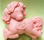 1 Piece Artistic Soap Mould Silicone Soap Mould Little Horse DIY Mould 72*62*28mm
