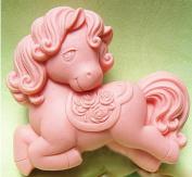 1 Piece Artistic Soap Mould Silicone Soap Mould Little Horse DIY Mould 72*62*28mm