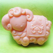 Longzang Zodiac sheep S0238 Craft Art Silicone Soap mould Craft Moulds DIY Handmade soap moulds