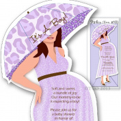 12 Baby Shower invitations Mod Mom Mix & Match custom Handmade Lepoard Pattern in Light Purple (Lavender) (12 Light Purple