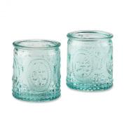 Baby Aspen Vintage Blue Glass Tealight Holder