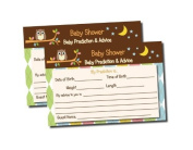 Owl Themed Baby Shower Advice & Prediction Cards for Mom Games
