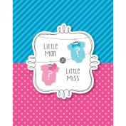Bow or Bowtie. Invitation (8) Invites Little Man or Miss Gender Reveal Shower